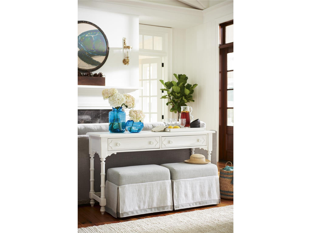 Cottage-Paula Deen Home Console with Benches