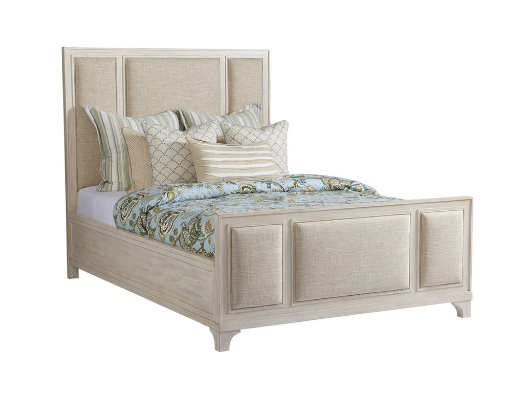 Crystal Cove Upholstered Panel Bed - Queen