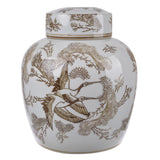 TAN LIDDED JAR - SM ROUND