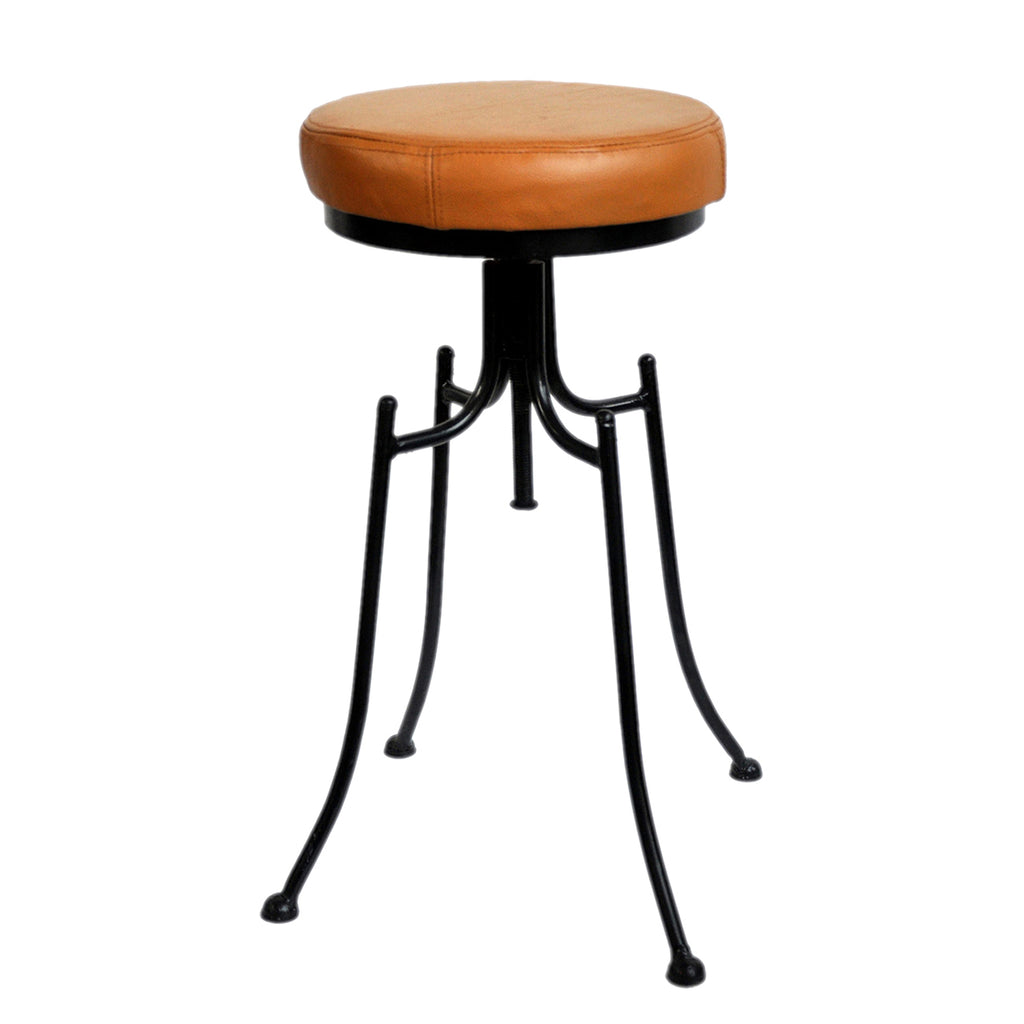 BAR STOOL W/LEATHER SEAT