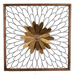 METAL FLOWER WALL DECOR - Woods Furniture