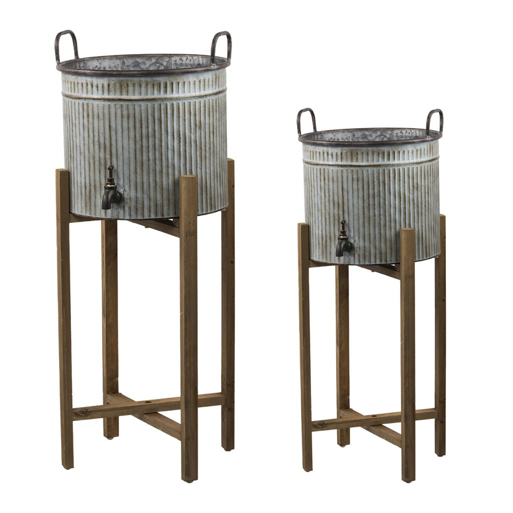 PLANT STANDS SET OF 2
