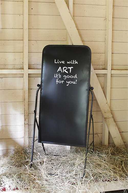 METAL 2 SIDED CHALKBOARD