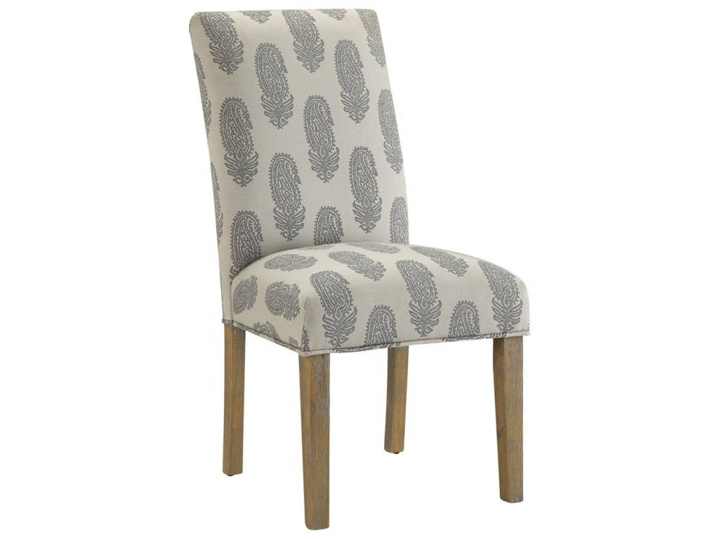GREY/WHITE DINING CHAIR