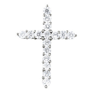 1 1/2 carat Diamond Cross Pendant