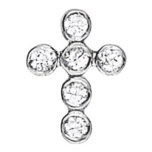 Round Bezel Diamond Cross Pendant