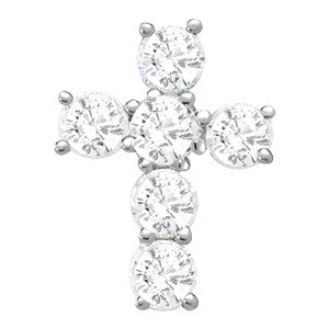 Prong Set 1/2 carat Cross Pendant