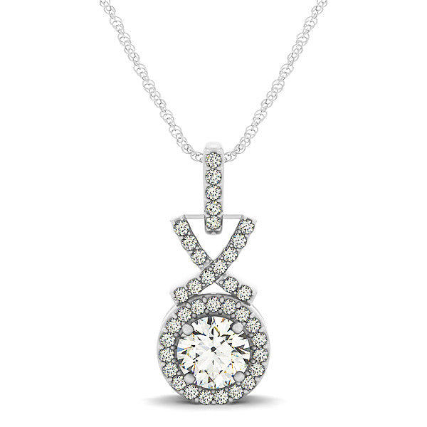 Fancy Diamond Halo Pendant