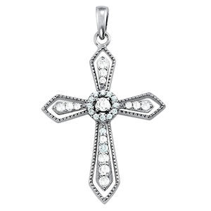 Fancy Detailed Cross Pendant