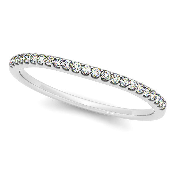 Narrow 1.25 mm Diamond Wedding Band