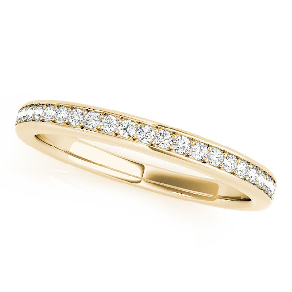 1/2 Around Narrow Channel Wedding Band in Yellow Gold