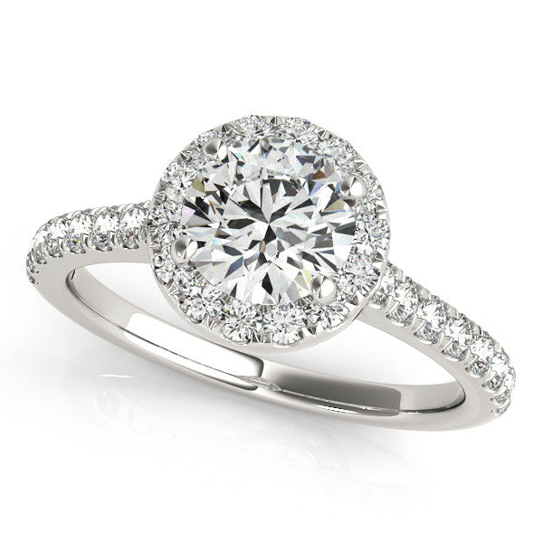 Classic Round Halo Engagment Ring