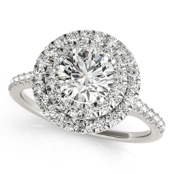 Classic Round Double Halo Engagement Ring