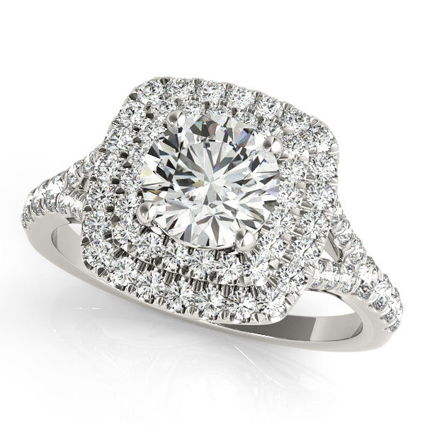 Classic Cushion Double Halo Engagement Ring
