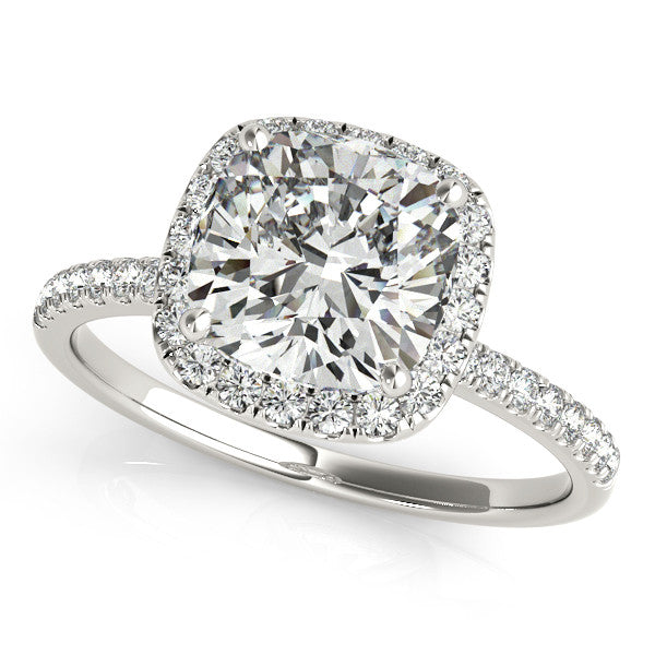 Brilliant Cushion Halo Ring