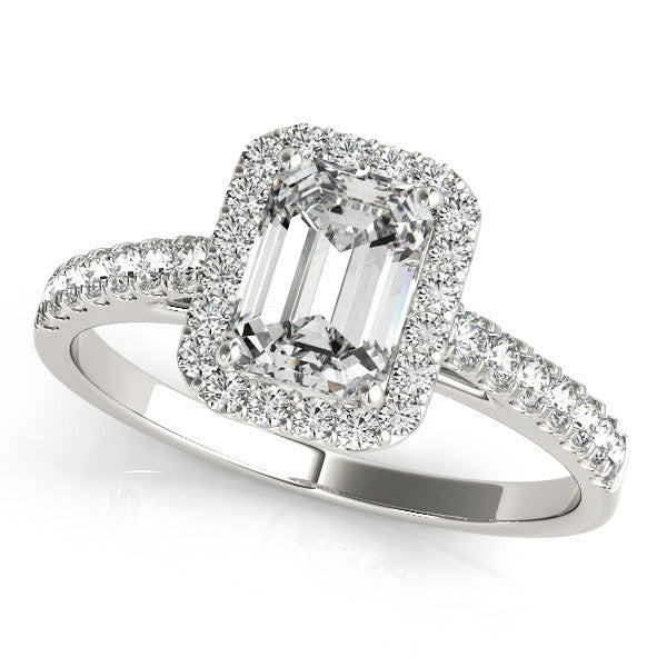 Radiant Halo Engagement Ring