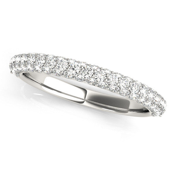 Pave Diamond Wedding Band in White Gold
