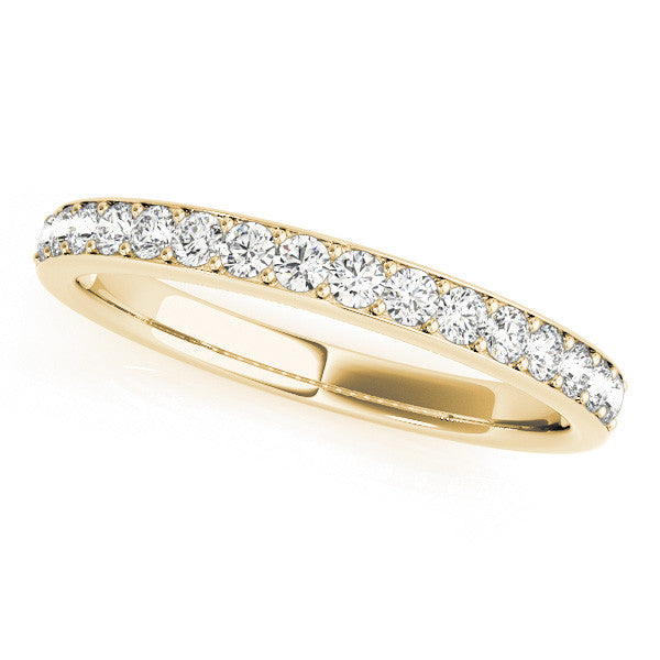 1/2 Around Channel Style Wedding Band in Yellow Gold