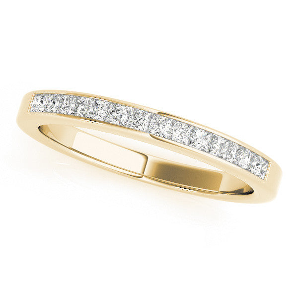 1/3 Around Channel Set Wedding Band in Yellow Gold