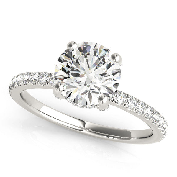 Classic Diamond Shank Solitaire Engagement Ring