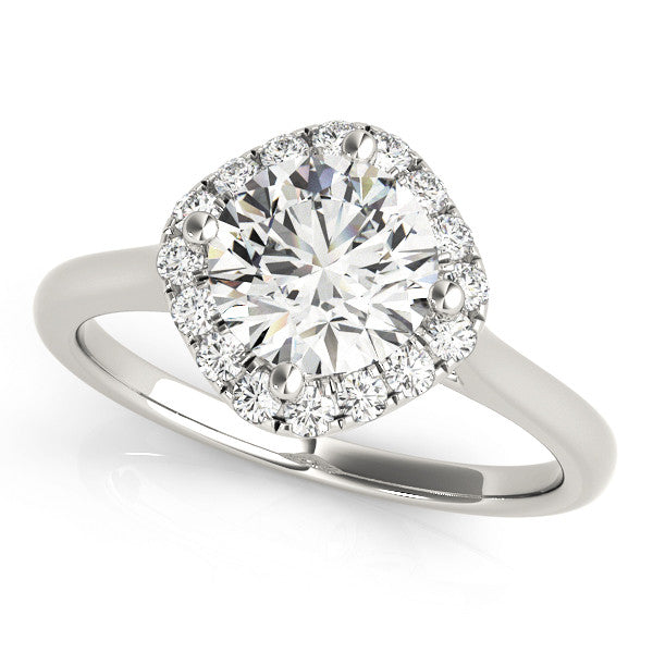 Elegant Cushion Halo Engagement Ring