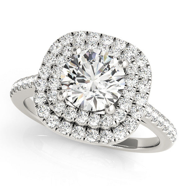 Dazzling Double Halo Cushion Ring