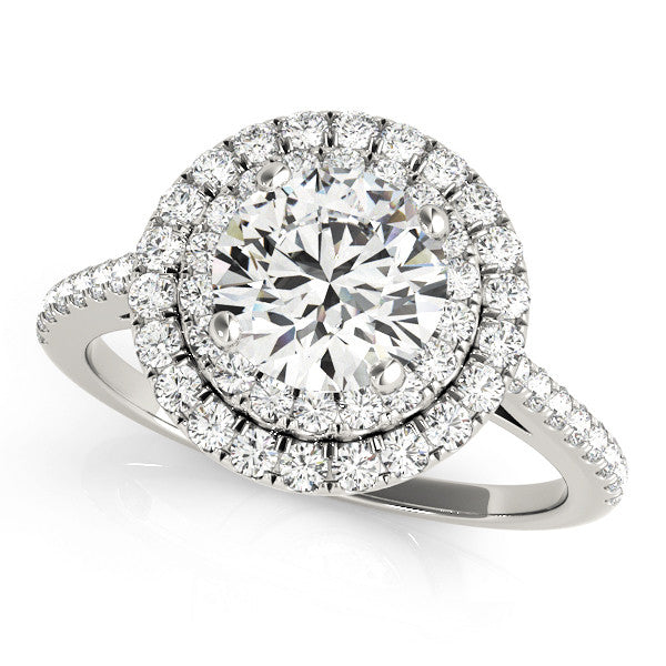 Grand Double Halo Engagement Ring