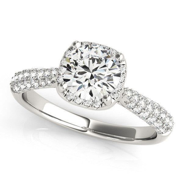 Fancy Cushion Halo Engagement Ring