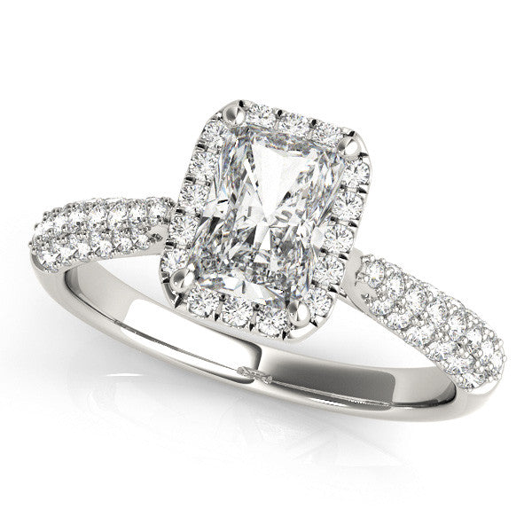 Sparkling Radiant Halo Ring