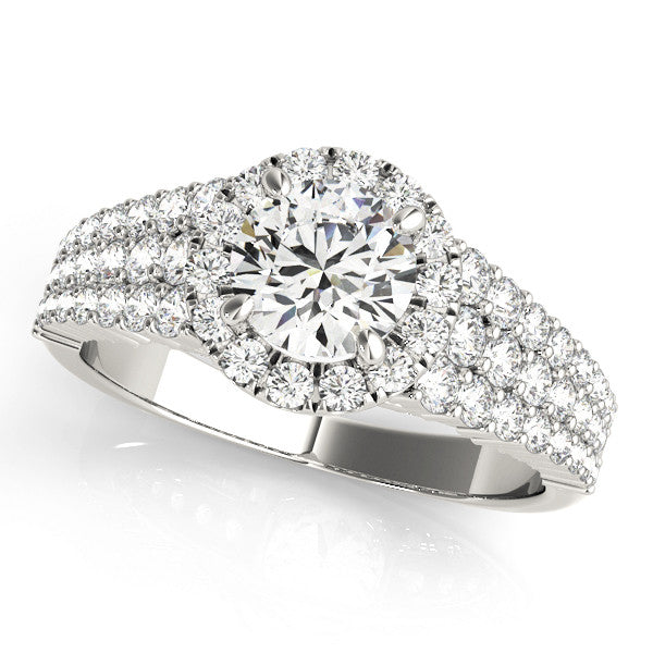 Glam Round Diamond Halo Ring