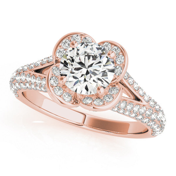 Elegant Rose Engagement Ring