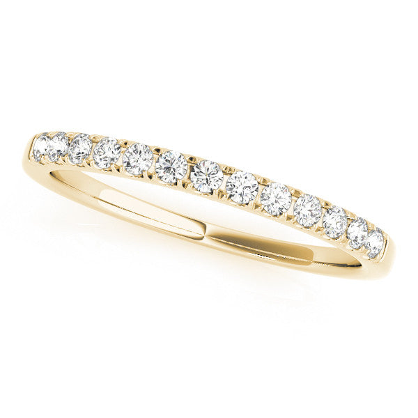 1/3 Around Prong Set Wedding Band in Yellow Gold