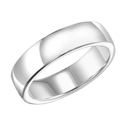 Classic White Gold Wedding Band
