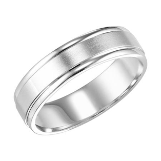 Brushed Finish with Rolled Egdes Wedding Band