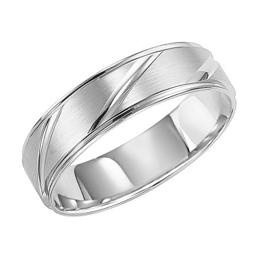 Diagonal Cut Wedding Band