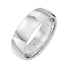 Bright Polished Domed Wedding Band