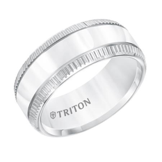 Coin Edge Rimmed Wedding Band