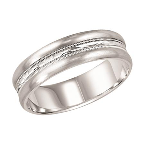 Swiss Cut Wedding Band
