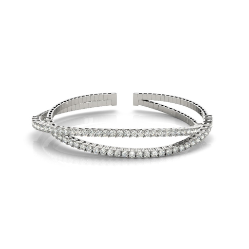 Double Twisted Diamond Flex Bangle