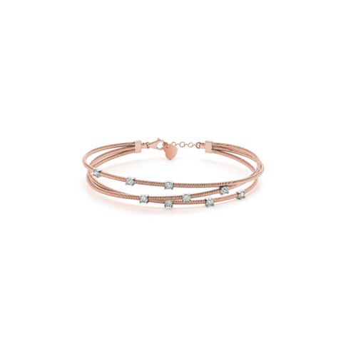Entangled Diamond Flex Bangle