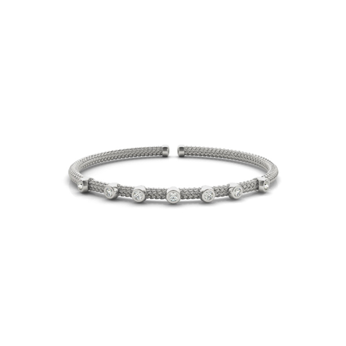 Italian Stackable Diamond Flex Bangle