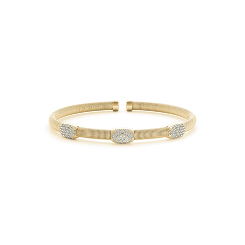 Pave Stackable Diamond Flex Bangle