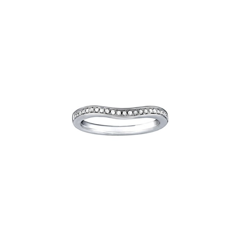 Gentle Curved Diamond Band