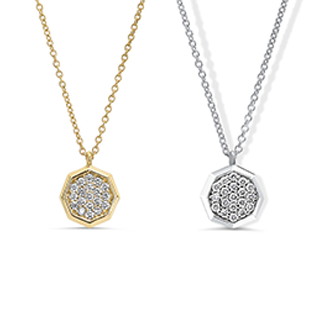 Pave Cluster Diamond Necklace