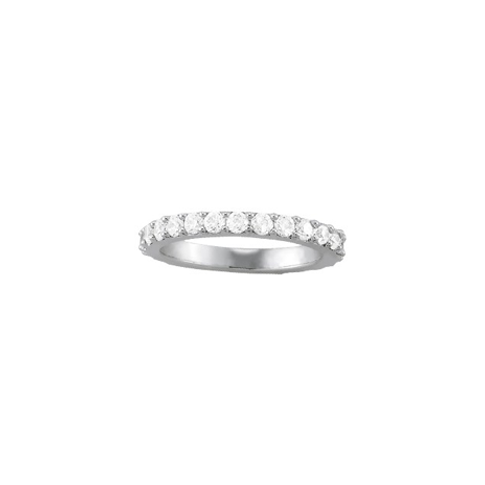 Shared Prong Set Eternity Band