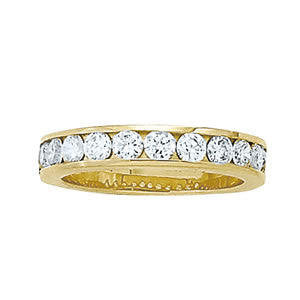 11 Diamond Channel Set Diamond Band
