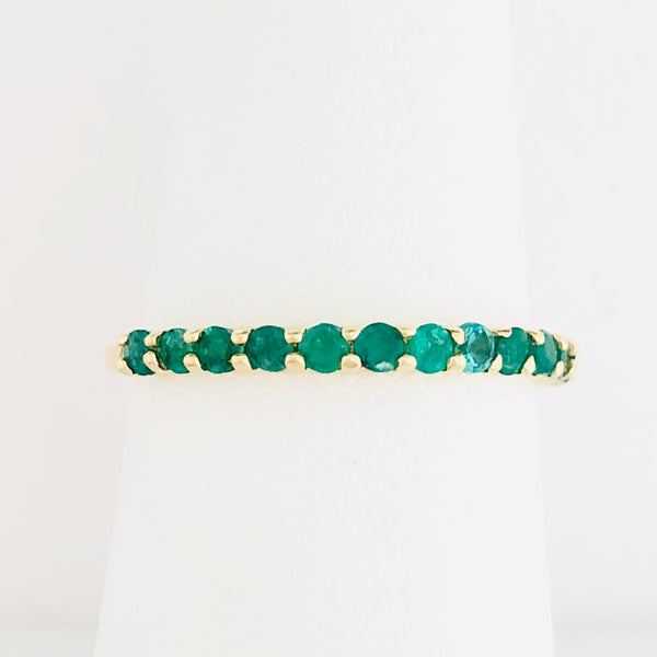 Emerald Stacking Ring - Yellow Gold