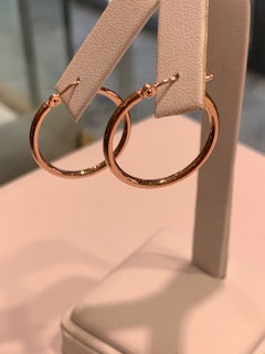 Rose Gold Hoops 14 Karat