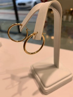 Yellow Gold Hoops 14 Karat