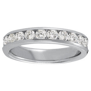 10 Diamond Channel Set Diamond Band